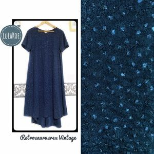 LuLaRoe Night Sky Blue Glitter Elegant Carly Dress